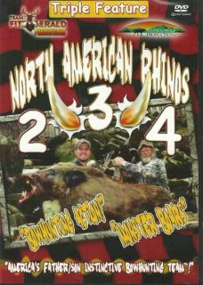 Lot of 3 New Wild Hog Hunting DVDs Javelina Pig Boar