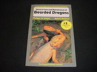 BEARDED DRAGON Lizard BREEDING care HERPETOCULTURAL pb Vosjoli