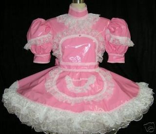 bbt pvc adult sissy maid dress