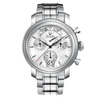 Bulova Accutron Mens Stainless Steel Big Date Chronograph Watch