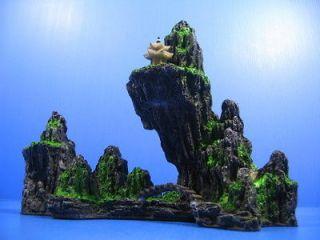 mountain view aquarium ornament tree rock cave bridge from taiwan