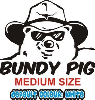 Bundaberg Rum Bundy Pig Car Sticker Decal 20cm x 15 5cm