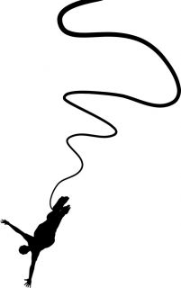 Bungee Jumping Vinyl Wall Silhouette Decals Stickers A