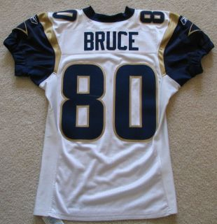 2003 Isaac Bruce St Louis Rams Game Worn Road Jersey