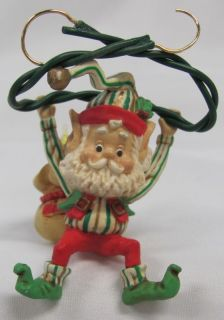 Complete Set of 10 Enesco Wee Tree Trimmers Christmas Ornaments 1989