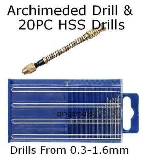 HSS Mini Twist Drills & Archimedes Twist Drill Jewelers Watch Maker