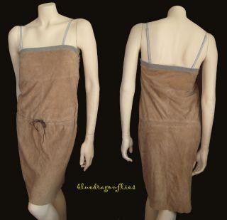 Fabulous BRUNELLO CUCINELLI Drawstring SUEDE DRESS