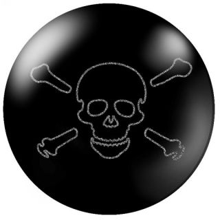 12 lb Brunswick Polyester Black Skull Head Cross Bones Bowling Ball