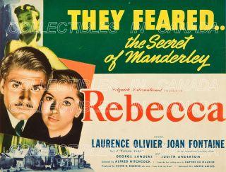 Rebecca 1940 ★ Laurence Olivier Joan Fontaine Hitchcock Daphne Du