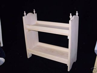 Doll Bed Perfect for 2 American Girl Dolls Unfinished