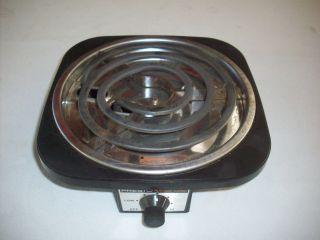 Presto 750 Watt Portable Electric Single Burner Hot Plate Stove