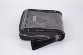 Burberry Burnham Black Nova Check Leather Zip Around Coin Purse Wallet