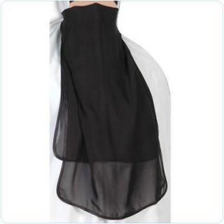 Black Half Niqab Veil Burqa Islamic Clothes Abaya Dress