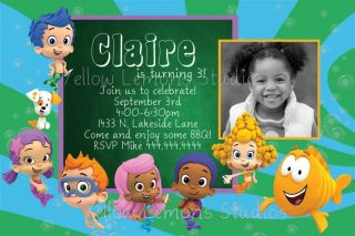 Bubble Guppies Birthday Party Invitation Digital File Only