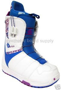Burton Mint 2010 Womens Snowboard Boots White Blue 5