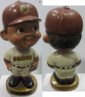 1967 72 San Diego Padres Gold Base Nodder Bobble Head Doll