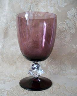 Bryce Aquarius Amethyst Purple 5 3 4 Water Wine Glass Goblet Stemware