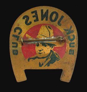 RARE Vintage Cowboy Star Buck Jones Club Pin 1937 Post Grape Nuts