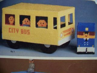 Kids Sneaker Bank School Bus Toy Plastic Canvas Patterns