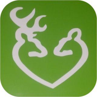 Deer Vinyl Sticker Decal Heart Buck Doe Bow Hunting Rifle Buckhead Gun