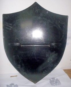 Medieval Red Dragon Shield Buckler with Handle SCA & LARP Reenactment