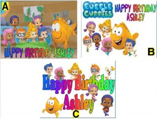 Bubble Guppies Custom Cake Topper Frosting Sheet