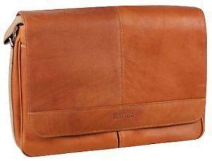 Risky Business Leather Messenger Bag Business Case Tan