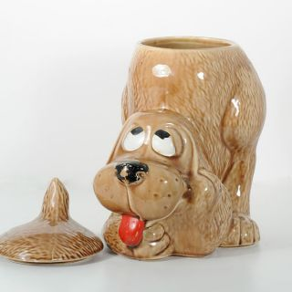McCoy Hound Dog Thinking Puppy 1970s Vintage Ceramic Cookie Jar