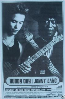 that was printed for the denver show that featured buddy guy and jonny
