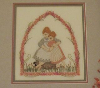 Limited Edition P Buckley Moss Sister Love Cross Stitch chart from