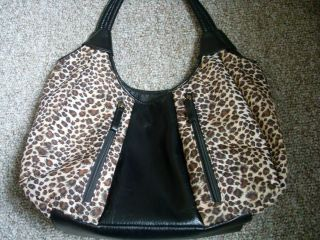 Bueno Animal Print Black Handbag Purse