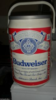 VINTAGE BUDWEISER BEER CAN COOLER ICE CHEST ANHEUSER   BUSCH