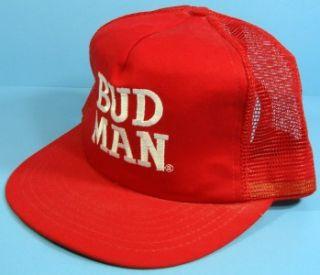 bud man vintage trucker style cap hat budweiser