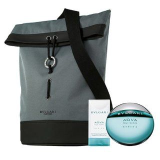Auth Bvlgari Aqva Pour Homme Sport Parfum Set Spray Sport Bag Shower