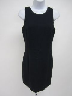 BYBLOS Navy Blue Scoop Neck Sleeveless Lined Knee Length Dress Sz 40