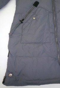 Buffalo David Bitton Gunmetal Gray Long Puffer Coat Size Medium
