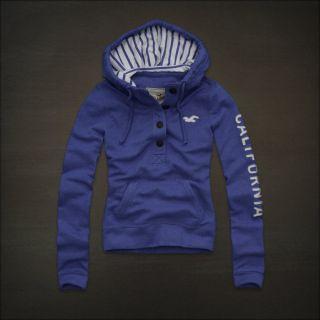 Hollister Abercrombie Womens San Buenaventura Fleece Hoodie Jacket s M