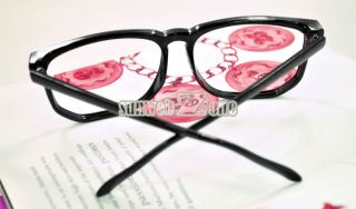 S0BZ Fashion Women Men Clear Lens Black Frame Wayfarer Nerd Eye Frames