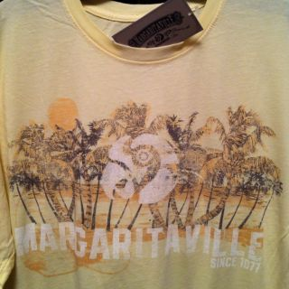 NWT XL Margaritaville Jimmy Buffett Parrot Palm Trees Guitar T Shirt