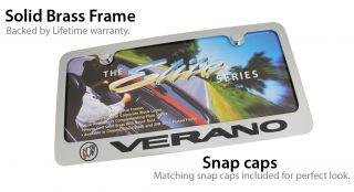 Buick Verano Chrome Brass License Plate Frame