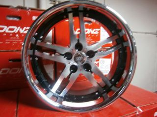 20 Bugsy Black Wheels Rims Chrome Lip Acura Audi BMW Chrysler Dodge