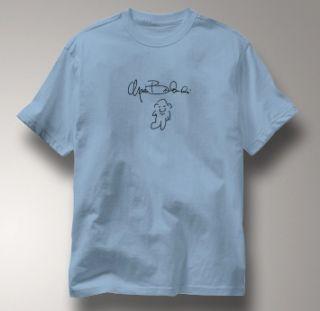 Charles Bukowski Autograph BLUE Author T Shirt XL
