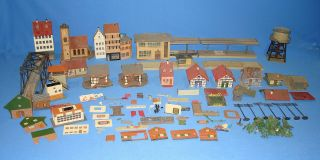 Model Railroad Train Layout Building Kits House Parts Lot Dirty