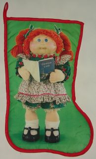 Scarce Vintage 1985 Cabbage Patch Doll Christmas Stocking