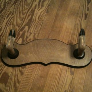 Deer Hoof Gun Rack Hat Coat Wood Real