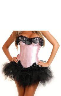 Burlesque Moulin Rouge Corset Tutu Fancy Dress Outfit