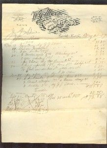 Territory Letter Head*W.J.Moon Dry Goods*Caddo Indian Territory 1907