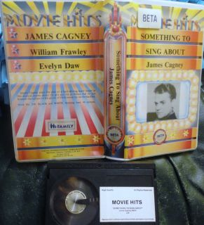 James Cagney Something To Sing About Beta Betamax tape clamshell case