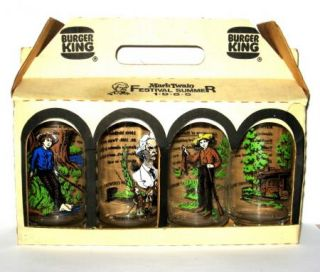Burger King Glasses Mark Twain Festival Summer 1985