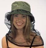 Keeper Washed Cotton Mosquito Net Bush Bucket Hat Camping New